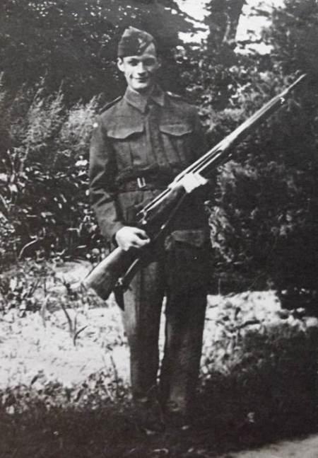 Albert Merritt in the Market Lavington Home Guard during World War II