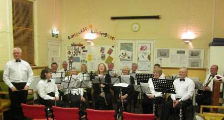 Lavington Community Band before its first public perrformance on 19th December 2012