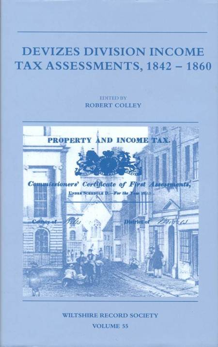 Devizes Division Tax Assessments. 1842 = 1860. The book has sections on Market Lavington and Easterton