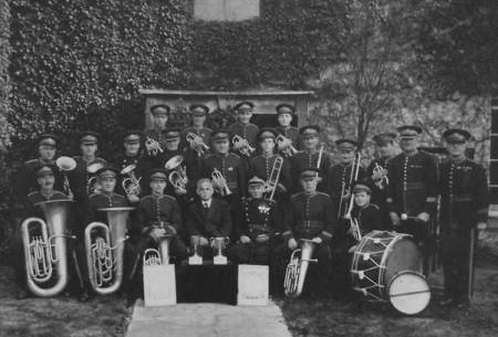 Market Lavington Band in 1947