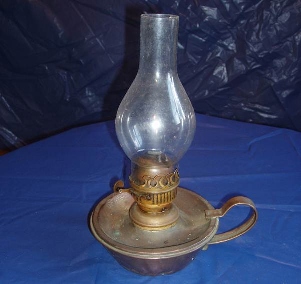 Paraffin Lamp From About 1900 At Market Lavington Museum