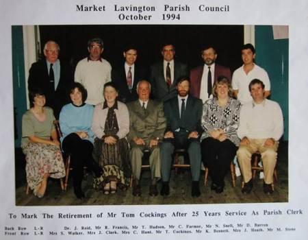 Market Lavington Parish Council in 1994