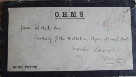 Black bordered envelope received by James Welch of Market Lavington in 1901