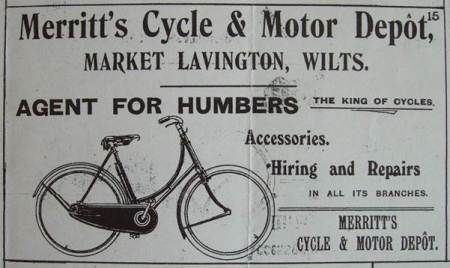 Merritt's of Market Lavington advertise Humbers - The King of Cycles