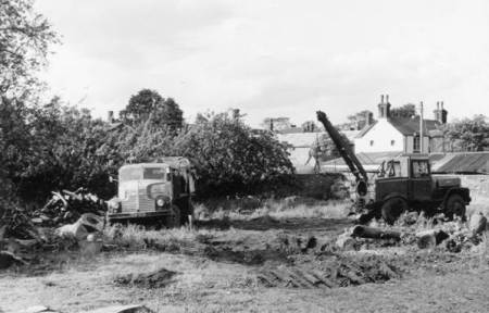 The heavy brigade for lifting and transporting timber in 1965
