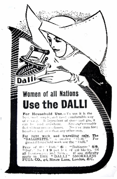 An advert for Dalli irons