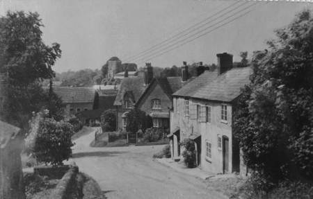 A view down Lavington Hill to White Street and beyond in about 1940