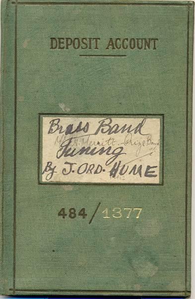 Market Lavington Prize Silver Band accounf book for 1924/25