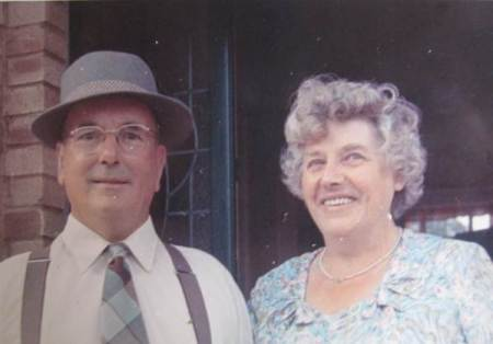 Robin Burgess, Market Lavington photographer and his wife, Queenie in about 1964