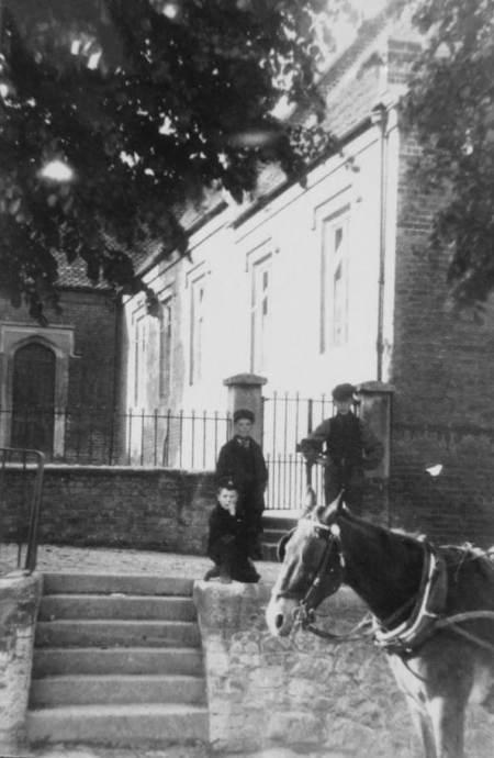 Outside Market Lavington School in the 1900s
