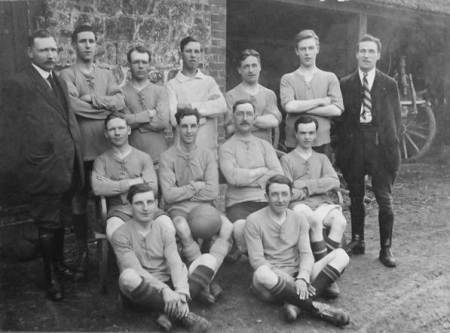 Market Lavington and Easterton football team in about 1919