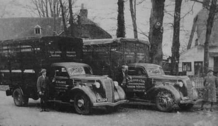 Lorries belonging to Harvey Lodge of Market Lavington in about 1953
