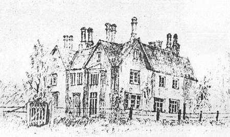 Sketch of the Vicarage in Market Lavington dating from about 1880