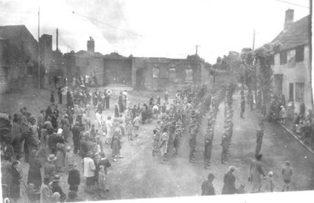 A parade in the Market Place, Market Lavington