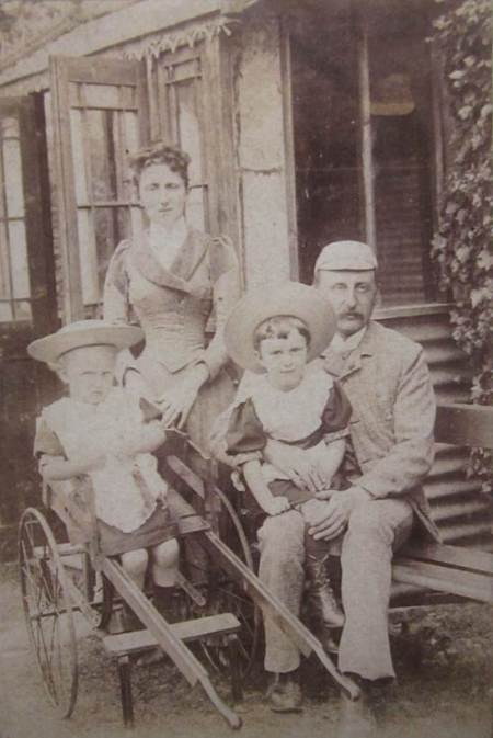 The Welch family at Market Lavington in about 1891