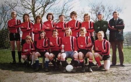 Football team, probably of the late 1970s. Presumed to be a Lavington team - can you help us to identify them?
