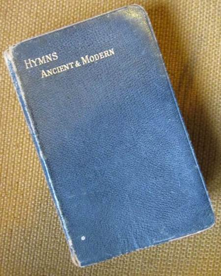 This copy of Hymns Ancient and Modern is at Market Lavington Museum