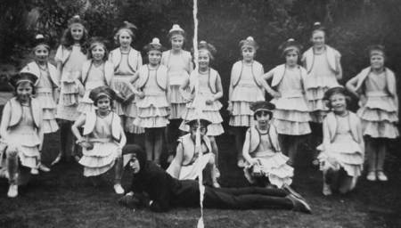 A group of Market Lavington youngsters in a play put on in the early 1930s