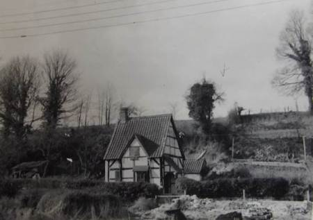 Tudor cottage on Northbrook, Market Lavington. For many years this was the home of Tommy Burden