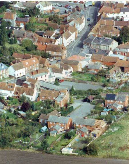 Market Lavington from the air - a 1992 photograph