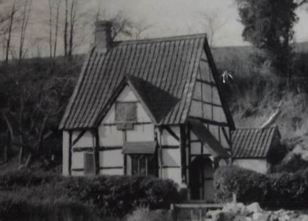 This idyllic cottage was demolished in 1984