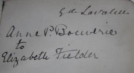 This inscription is the only item we have from the Marquess de Lavalette, former resident at Market Lavington Manor