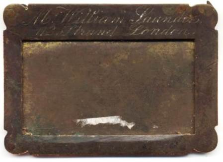 Calling card holder for William Saunders