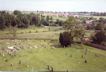 View North from Market Lavington Church in 1981