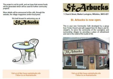 St. Arbucks Flyer - one of the newest items stored for posterity at Market Lavington Museum
