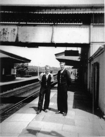Lavington station and staff in 1954
