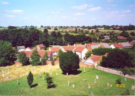 A similar view over Market Lavington in the year 2000