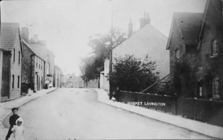 This card shows the part of High Street, market Lavington where Alice lived as a girl