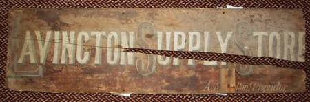 A Lavington Supply Store sign dating from about 1900