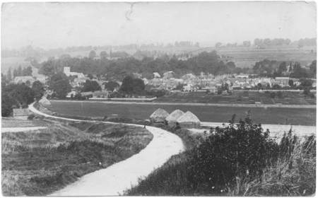 Market Lavington from the hill in about 1918