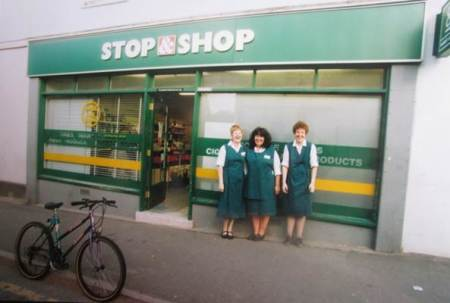 Market Lavington Co-op and staff in the year 2000