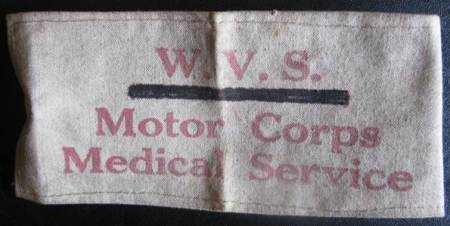 A WVS arm band from World War II. It canm be found at Market Lavington Museum.