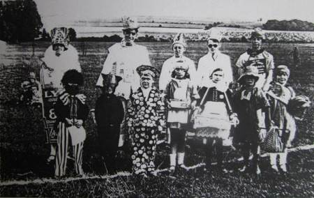Fancy Dress for a 1927 market Lavington and Easterton Carnival