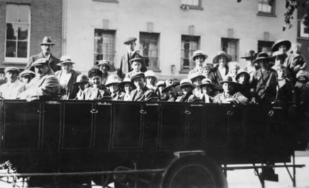 A charabanc trip from Market Lavington in the late 1920s