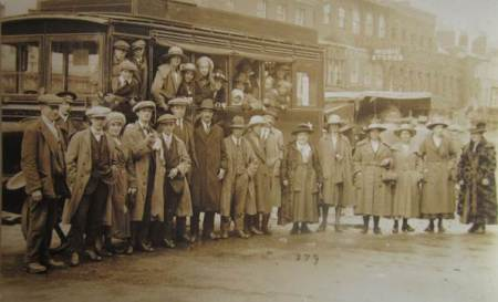 Coach trip from Market Lavington in the 1920s