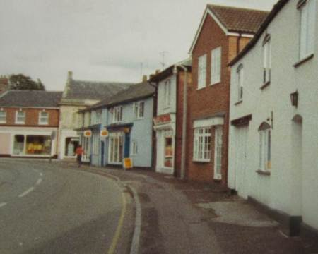 Lucinda rebuilt - a view of Church Street, Market Lavington in the late 1970s