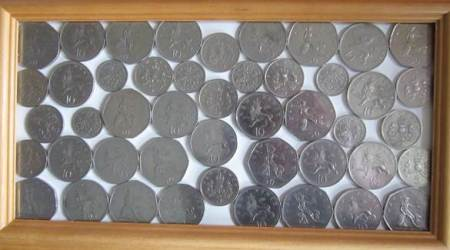 Demonetised coins found in the safe of St Mary's Church, Market Lavington