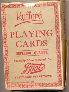 Rufford Playing Cards - probably 60 or more years old and now at Market Lavington Museum