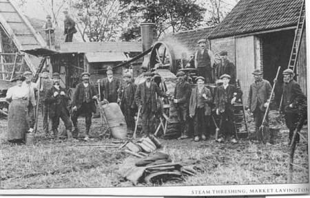 Steam Threshing in Market Lavington - probably before World War 1