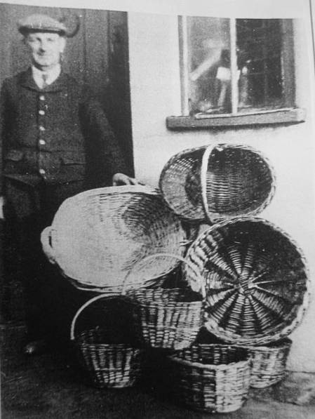 Sid Mullings, basket maker of Market Lavington
