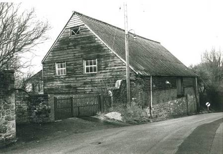 The old barn on Parsonage Lane, Market Lavington in 1965