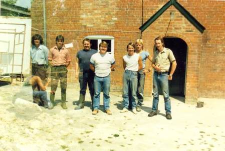 The team who conerted nthe School House into Market Lavington Museum