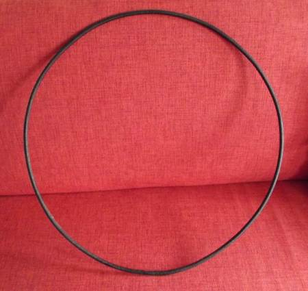 This trundling hoop, probably 80 years old, can now be found at Market Lavington Museum