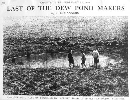 Article about Market Lavington dew pond diggers from a 1969 issue of Country Life