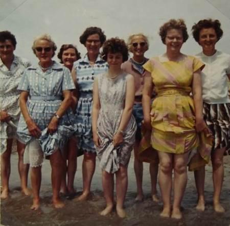 Members of Lavington Church choir at the seaside