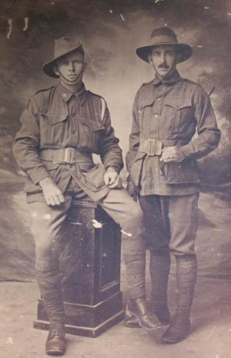 Two Australian soldiers who spent time in Market Lavington in 1916